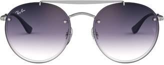 Ray-Ban Highstreet 54mm Blaze Round Double Bridge Sunglasses