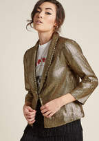 ModCloth Sequin Blazer with Open Front in XL - Wrap