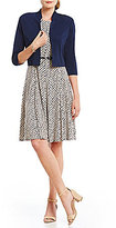 Jessica Howard Printed Fit-and-Flare Jacket Dress