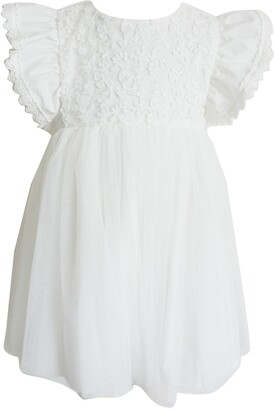 Popatu Lace Applique Tulle Dress