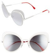 Fendi Women's 54Mm Gradient Cat Eye Sunglasses - White