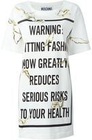 Moschino Fashion Kills T-shirt dress - women - Rayon/other fibers - 42