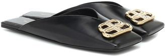 Balenciaga Double Square BB leather slippers