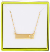BaubleBar 14K Gold Plated Ice &G& Initial Bar Pendant Necklace