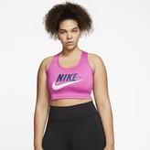 Nike Women's Medium-Support Sports Bra (Plus Size Swoosh Icon Clash