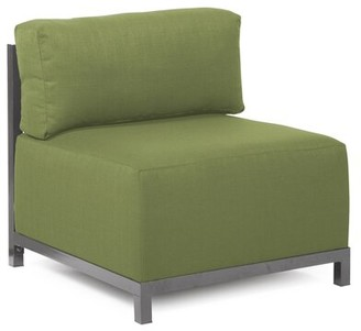 Latitude Run Woodsen Slipper Chair Frame Finish: Titanium, Color: Seascape Moss