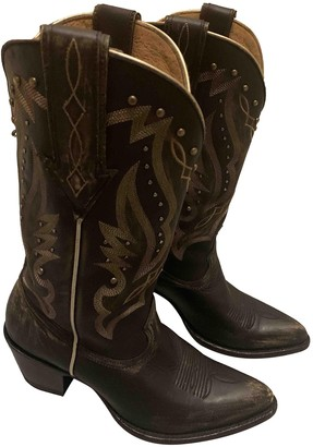 Non Signã© / Unsigned Black Leather Boots