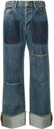 J.W.Anderson Women's Shaded Pocket Detail Denim Trousers