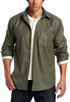 Pendleton Men's Long Sleeve Button Front Classic-Fit Trail Shirt, Peat Moss Green Mix, MD