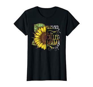 Womens Womens Blessed To Be Called Mama Sunflower T-Shirt