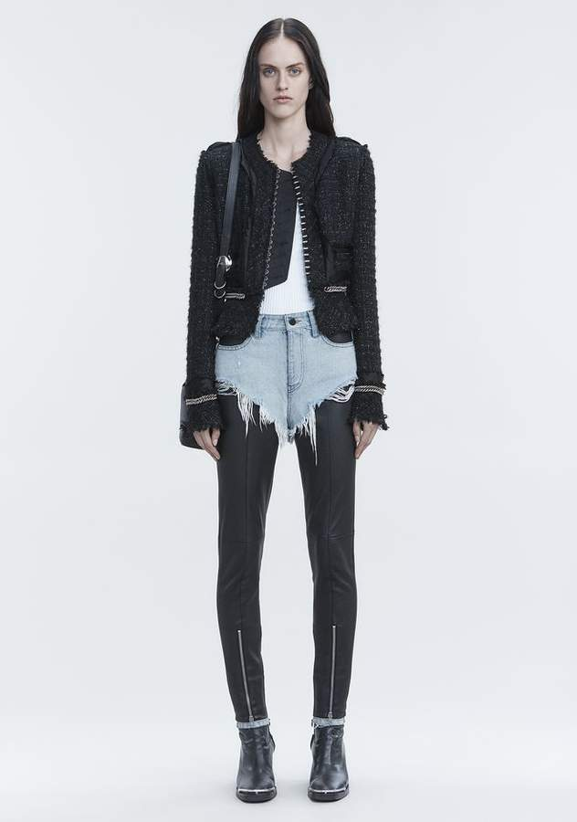 Alexander Wang DECONSTRUCTED TWEED JACKET JACKETS AND OUTERWEAR