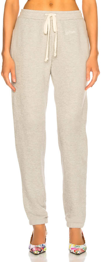 RE/DONE Sweatpant With Embroidery in Heather Grey | FWRD