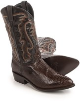 """Laredo Water Snake Cowboy Boots - 12"""", Point Toe (For Men)"""