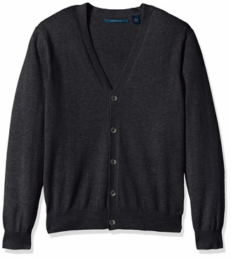 Perry Ellis Men's Jersey Knit Cardigan