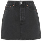 RE/DONE 60s High-Rise Denim Miniskirt