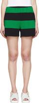 Stella McCartney Green and Black Striped Knit Shorts