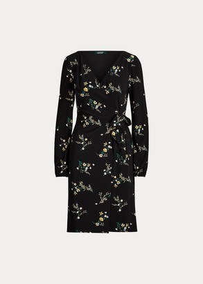 Ralph Lauren Floral Tie-Front Jersey Dress