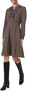 Hobbs London Jade Geometric Print Dress