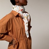 Love & Lore LOVE AND LORE PRINTED TWILL SCARF WILLIAMS FLORAL IVORY