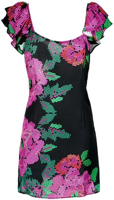 AMIR SLAMA Floral Print Dress