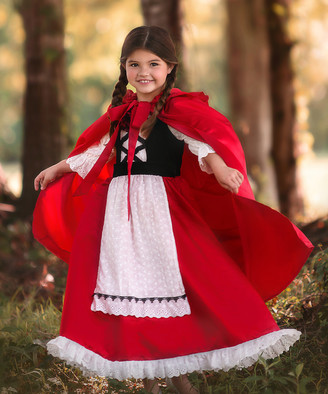 Scully Trish Child Girls' Capes RED - Little Red Riding Hood Dress-Up Set - Girls