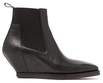 Rick Owens Angular-heel Leather Chelsea Boots - Mens - Black