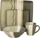 Asstd National Brand Sango Zanzibar 16-pc. Reactive Glaze Square Dinnerware Set