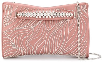 Jimmy Choo Venus bead and crystal embellished clutch