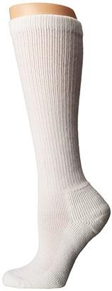 Thorlos Advance Diabetic Over Calf Single Pair (White) Women's Crew Cut Socks Shoes