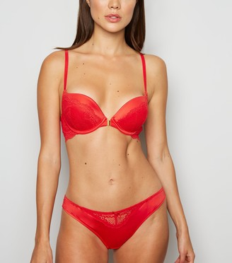 New Look Lace Clasp Front Push-Up Bra