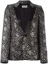 Saint Laurent star jacquard blazer