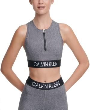 Calvin Klein Front-Zip Medium-Impact Sports Bra