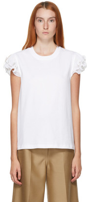 See by Chloe White Frill T-Shirt