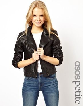 Asos Exclusive Leather Biker Jacket - Black