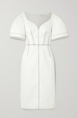 Alexander McQueen Topstitched Denim Dress - Ivory