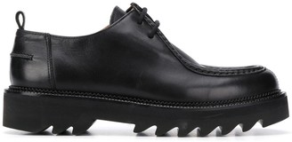 Ami Leather Round-Toe Derby Shoes