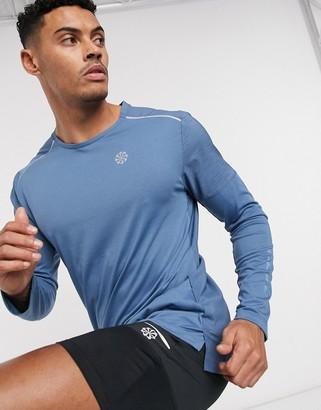 Nike Running Rise 365 long sleeve top in grey
