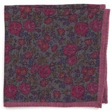 Ted Baker Men's Moody Floral Wool Pocket Square