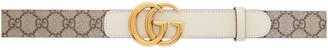 Gucci Brown GG Supreme Marmont Belt