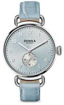 Shinola The Canfield Stainless Steel & Alligator Strap Watch