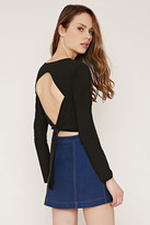 Forever 21 FOREVER 21+ Contemporary Cutout-Back Crop Top