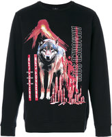 Marcelo Burlon County of Milan wolf printed sweatshirt - men - Cotton/Polyester - S