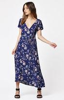 Billabong Floral Print Wrap Dress