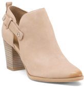 Leather Booties With Side Opening