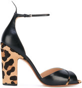 Francesco Russo chunky 'Hill' leopardprint sandals - women - Goat Skin/Leather - 37.5