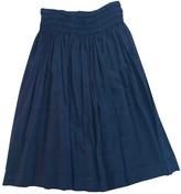 LoveShackFancy Black Cotton Skirt for Women