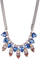 French Connection Layered Crystal Bib Necklace