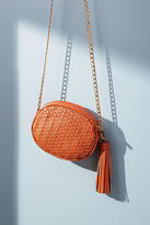 Anthropologie Mott Woven Oval Crossbody Bag