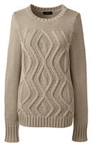 Classic Women's Drifter Cotton Cable Sweater-Blush Sand Heather