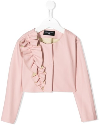 MonnaLisa Ruffle Detail Textured Jacket